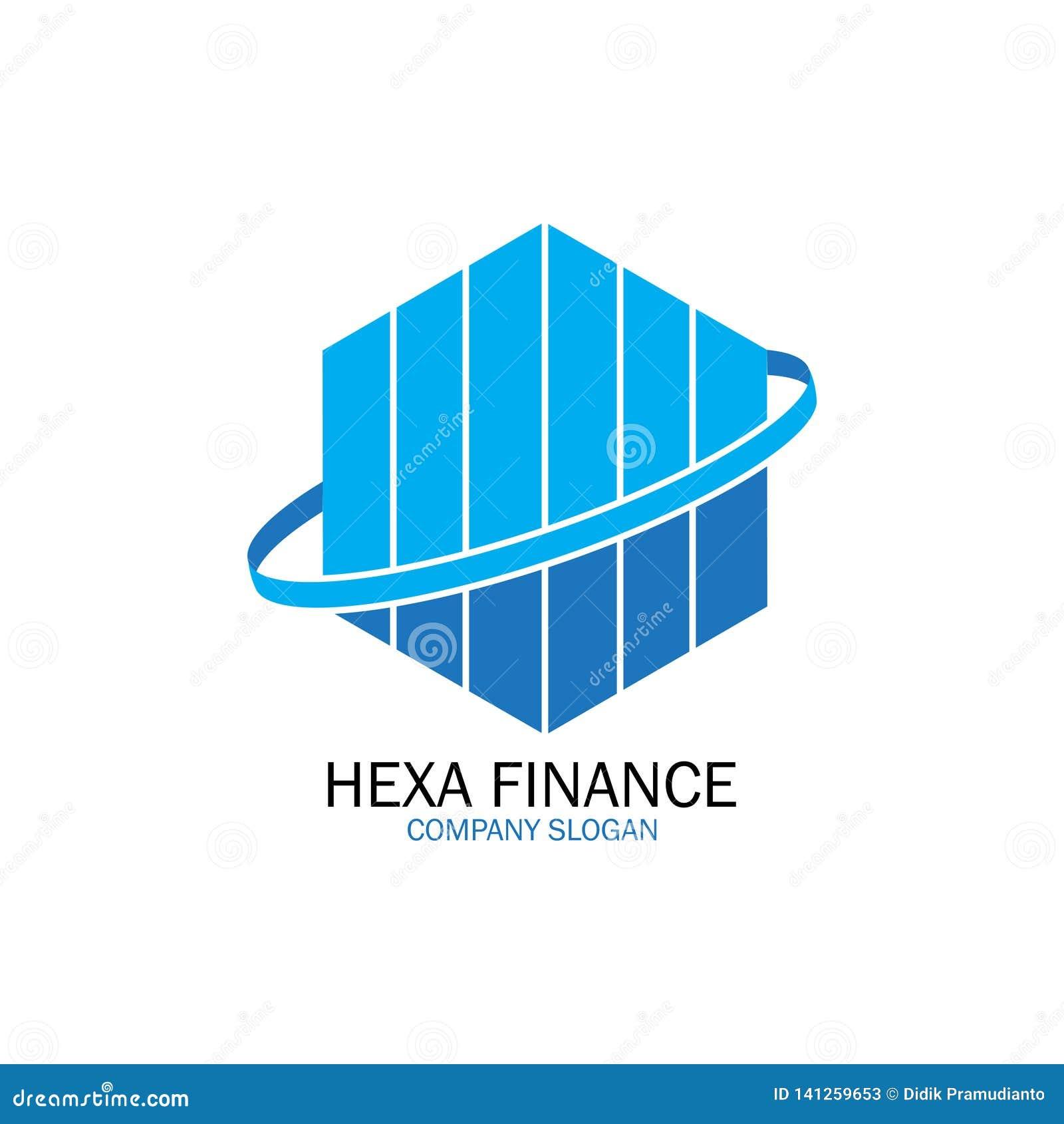 Hexa finans för företagslogo