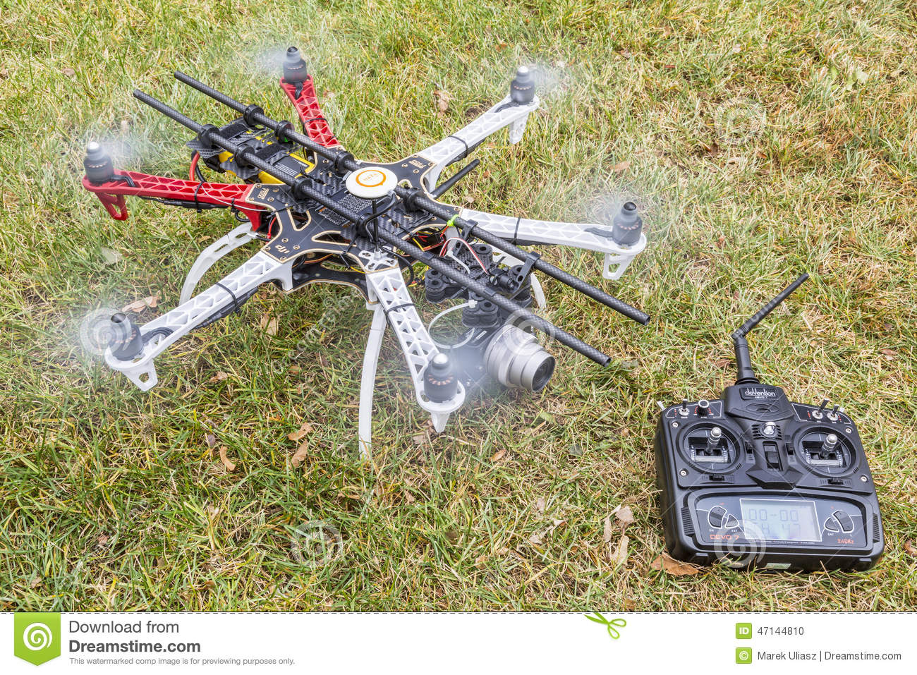 Hexacopter Drone With Camera Editorial Image - Image of