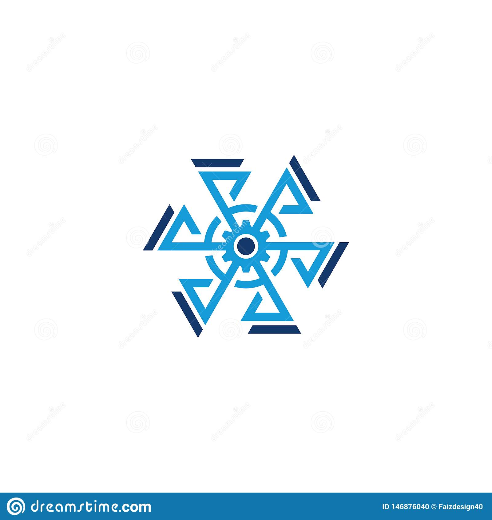 Hexagon επιχειρησιακό λογότυπο βελών εργαλείων