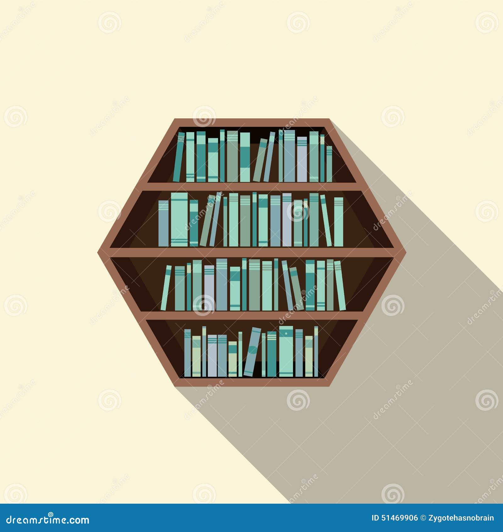 hexagon b cherregal auf wand vektor abbildung bild 51469906. Black Bedroom Furniture Sets. Home Design Ideas