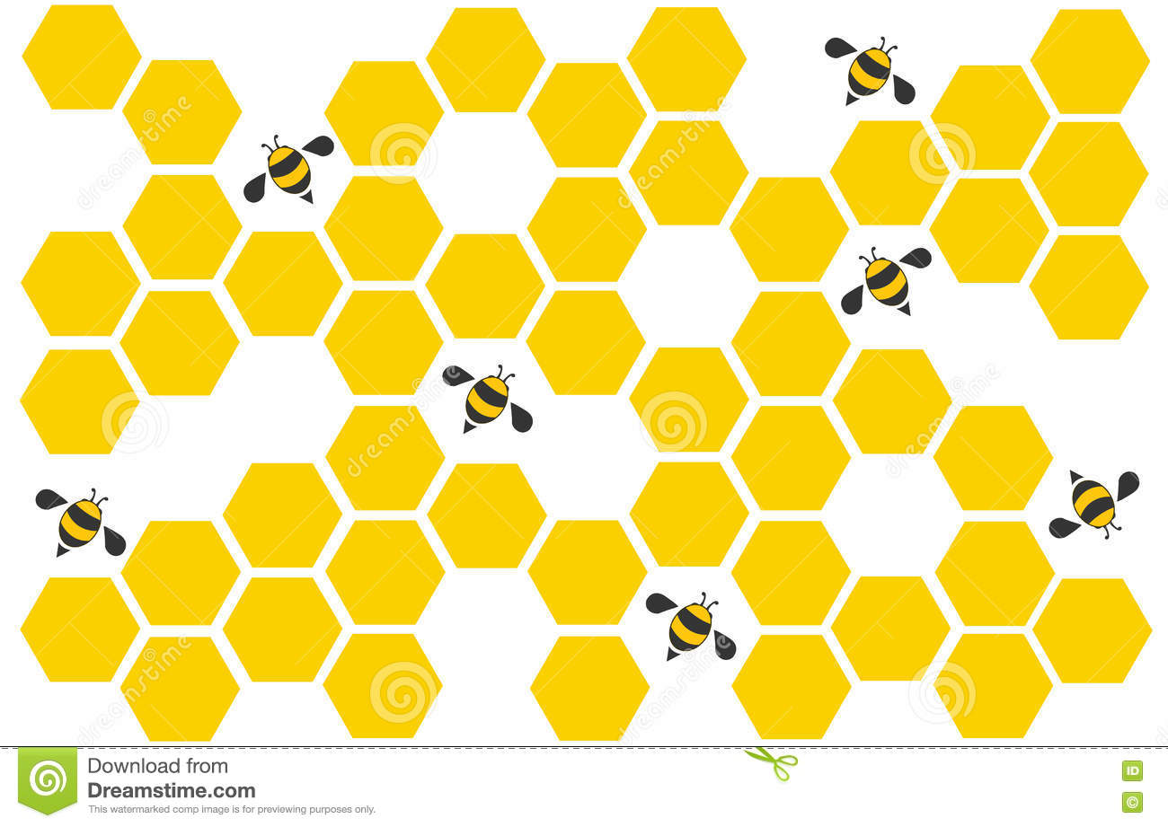 Hexagon Bee Hive Design Art And Space Background Vector ...