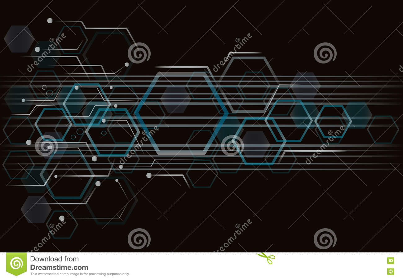 Hexagon Bee Hive Design Art And Space Background Stock Vector Beehive Phone Wiring Diagram