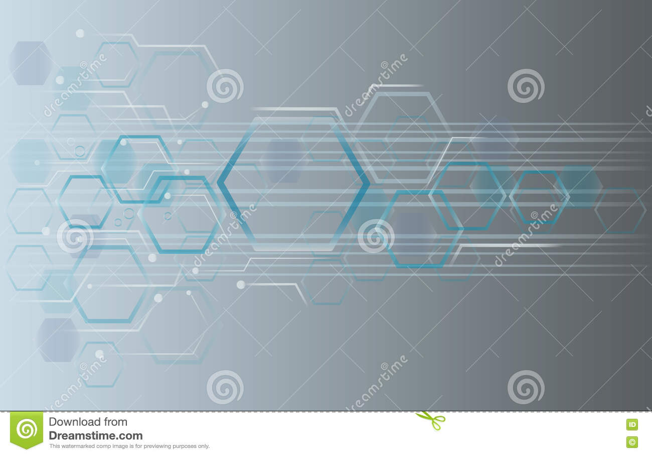 Hexagon bee hive design art and space background vector for Space art design