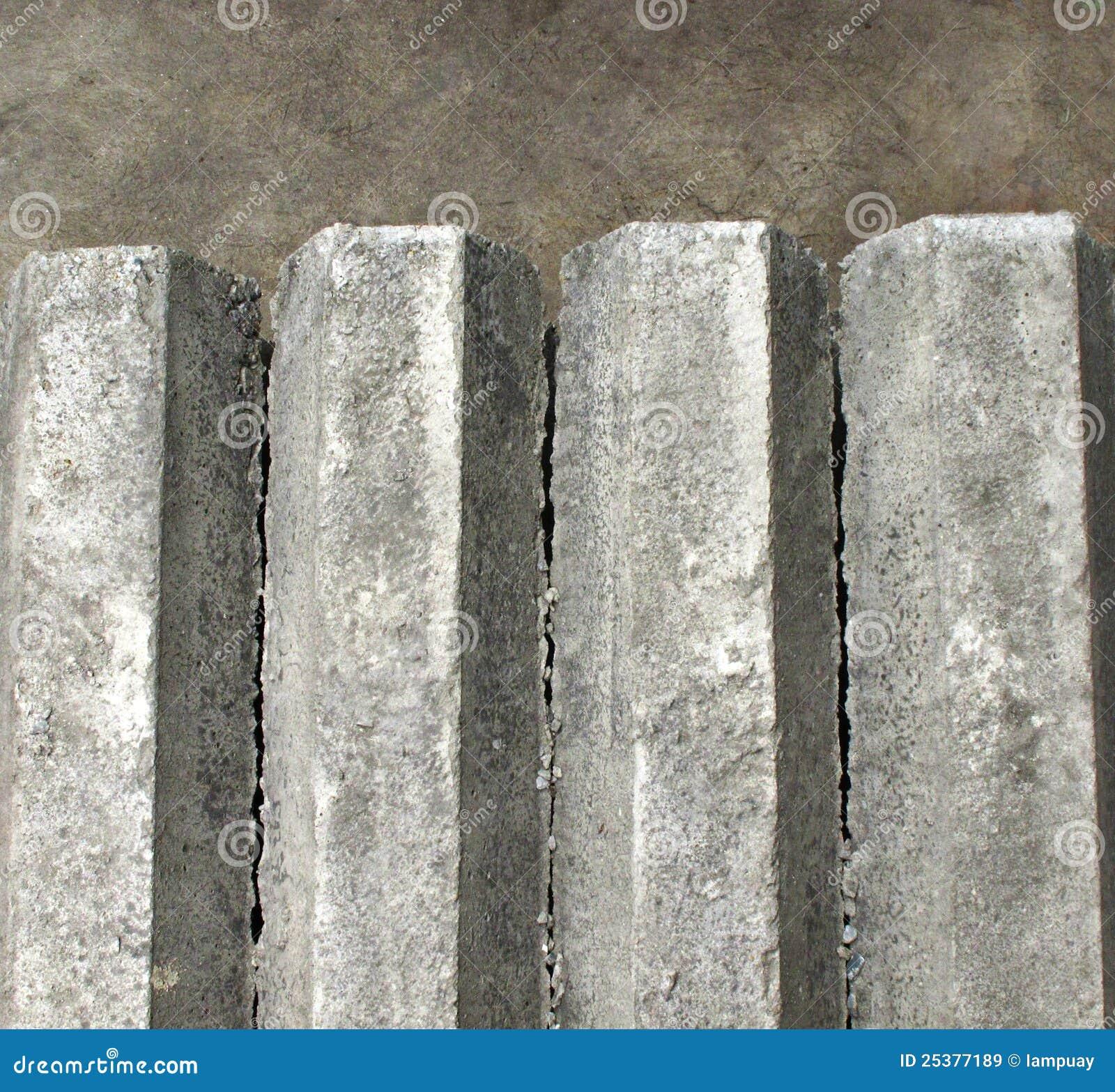 Hexagon Concrete Pillar On Floor Royalty Free Stock Images