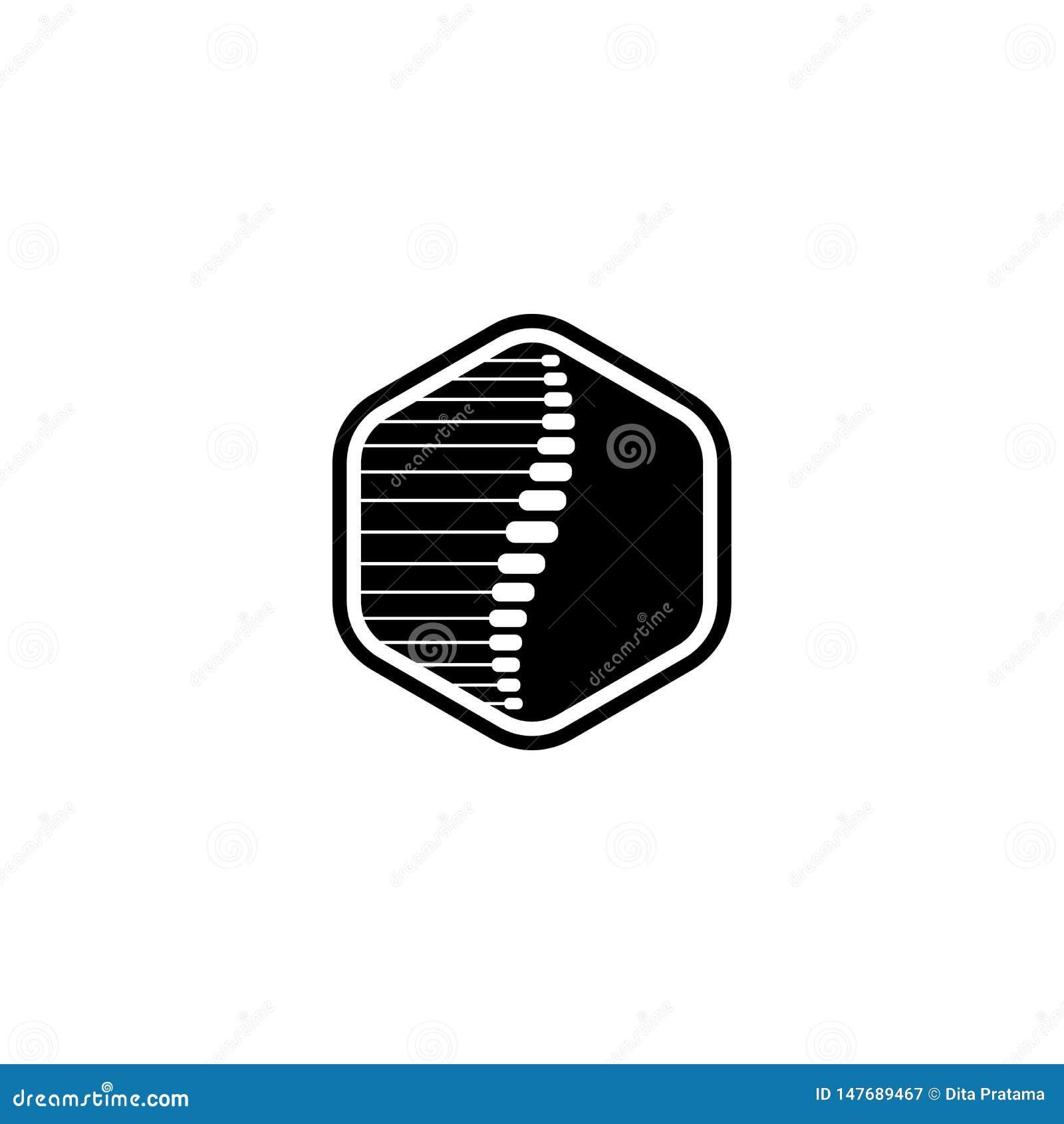 Hexagon embleem van de backbonegeneeskunde