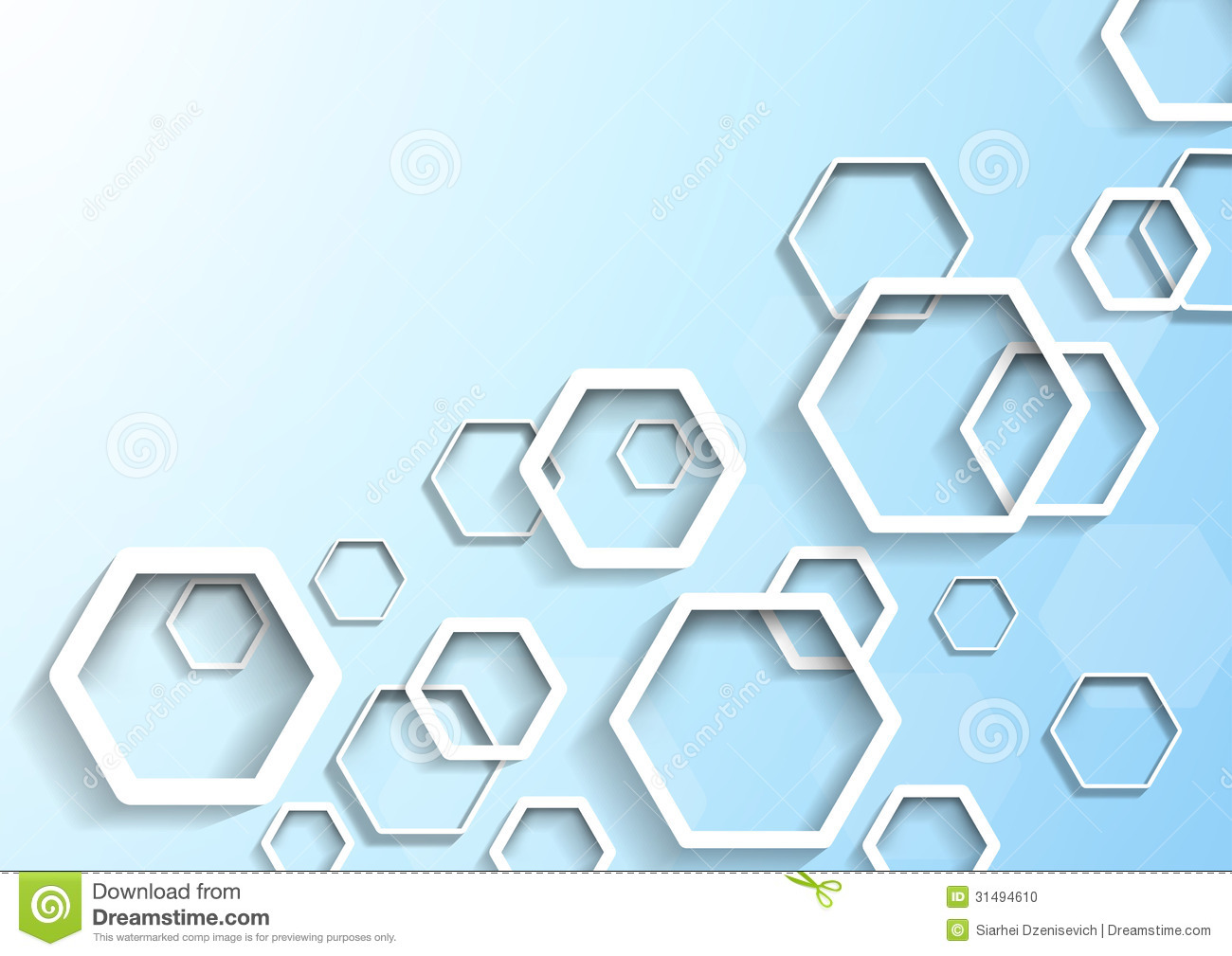 Hexagon Geometrical Background Template Stock Photo