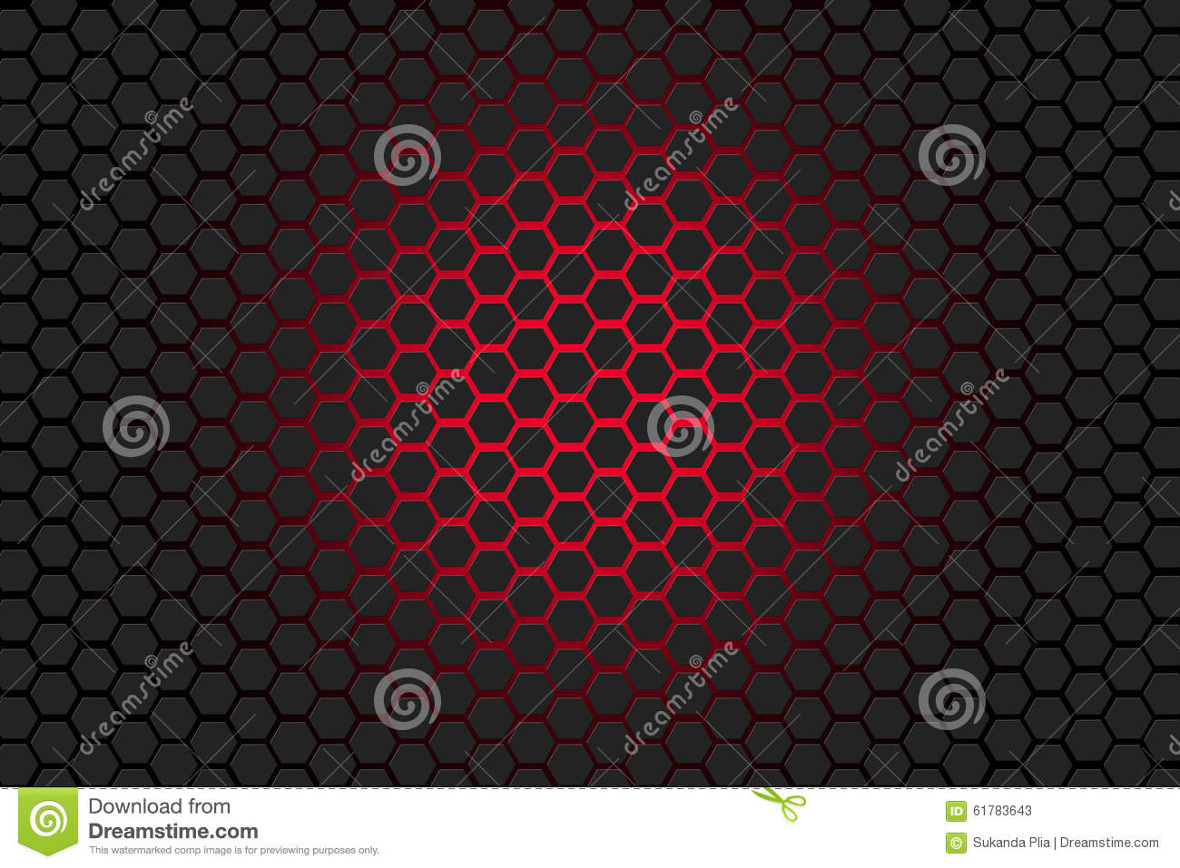 Hexagon grey and red background stock illustration image for Red and grey wallpaper
