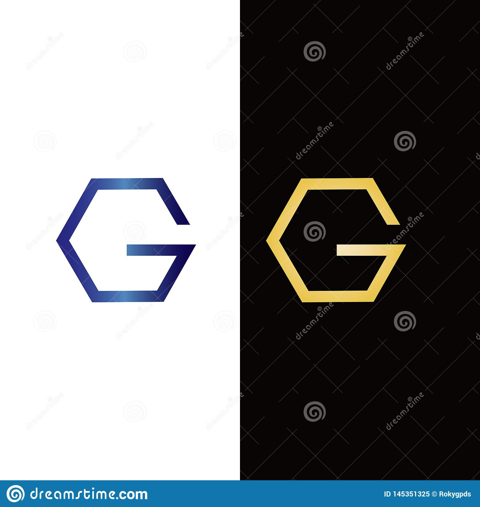 Hexagon ontwerp van het Brieveng embleem Onroerende goederenembleem of pictogram voor uw bedrijf