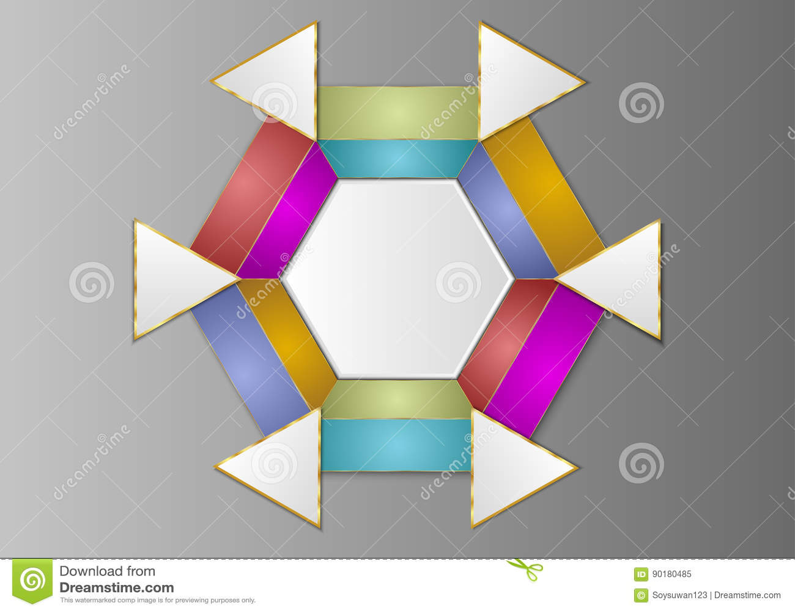 Hexagon Template   Hexagon Template Hexagon Label Blank For Design Stock Vector