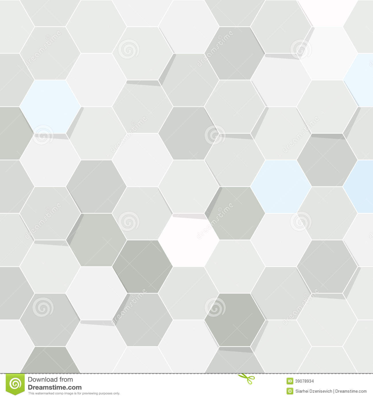 Hexagon Tile Transparent Background Stock Vector Image