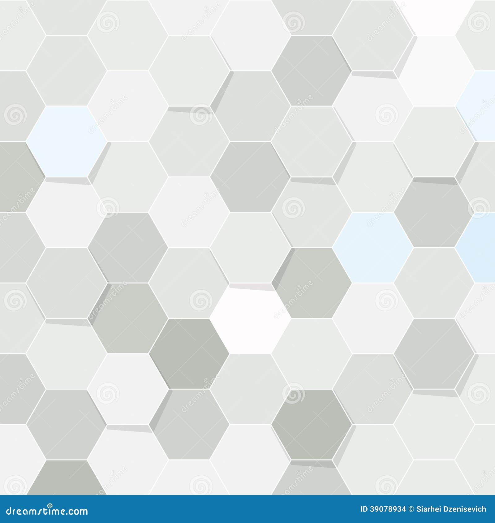 Hexagon Tile Transparent Background Stock Vector Image