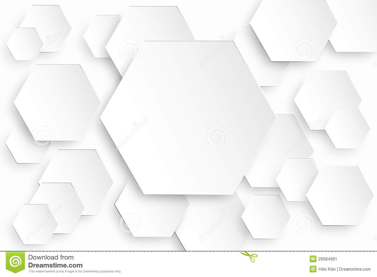 Hexagonal Background Stock Image - Image: 29584991