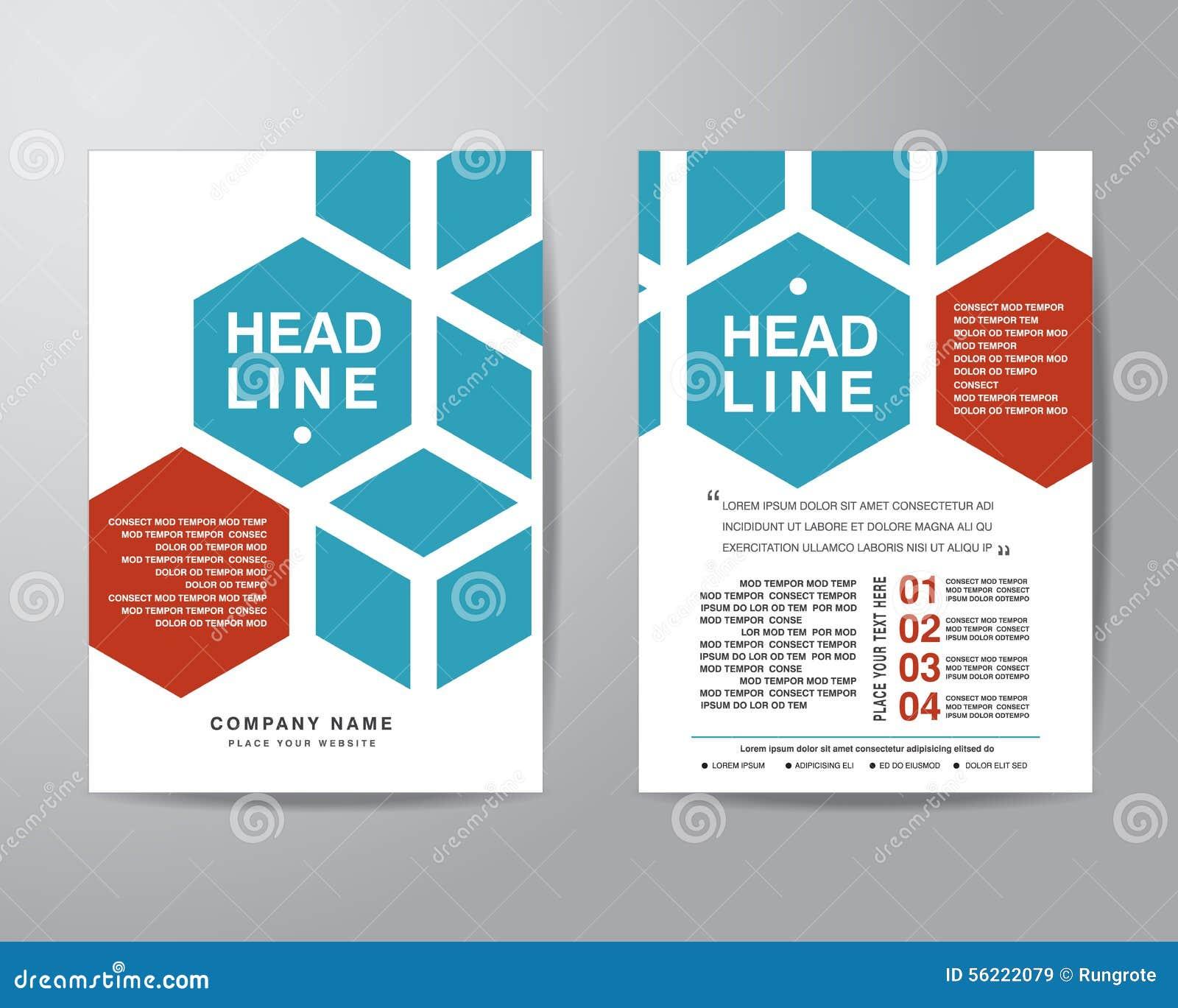 Hexagonal Brochure Flyer Design Layout Template In A4 Size