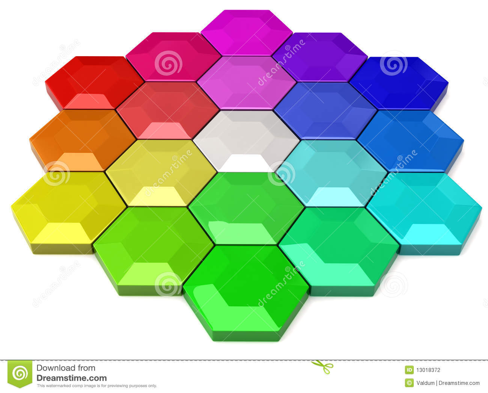 Hexagonal Color Wheel Stock Photography Image 13018372