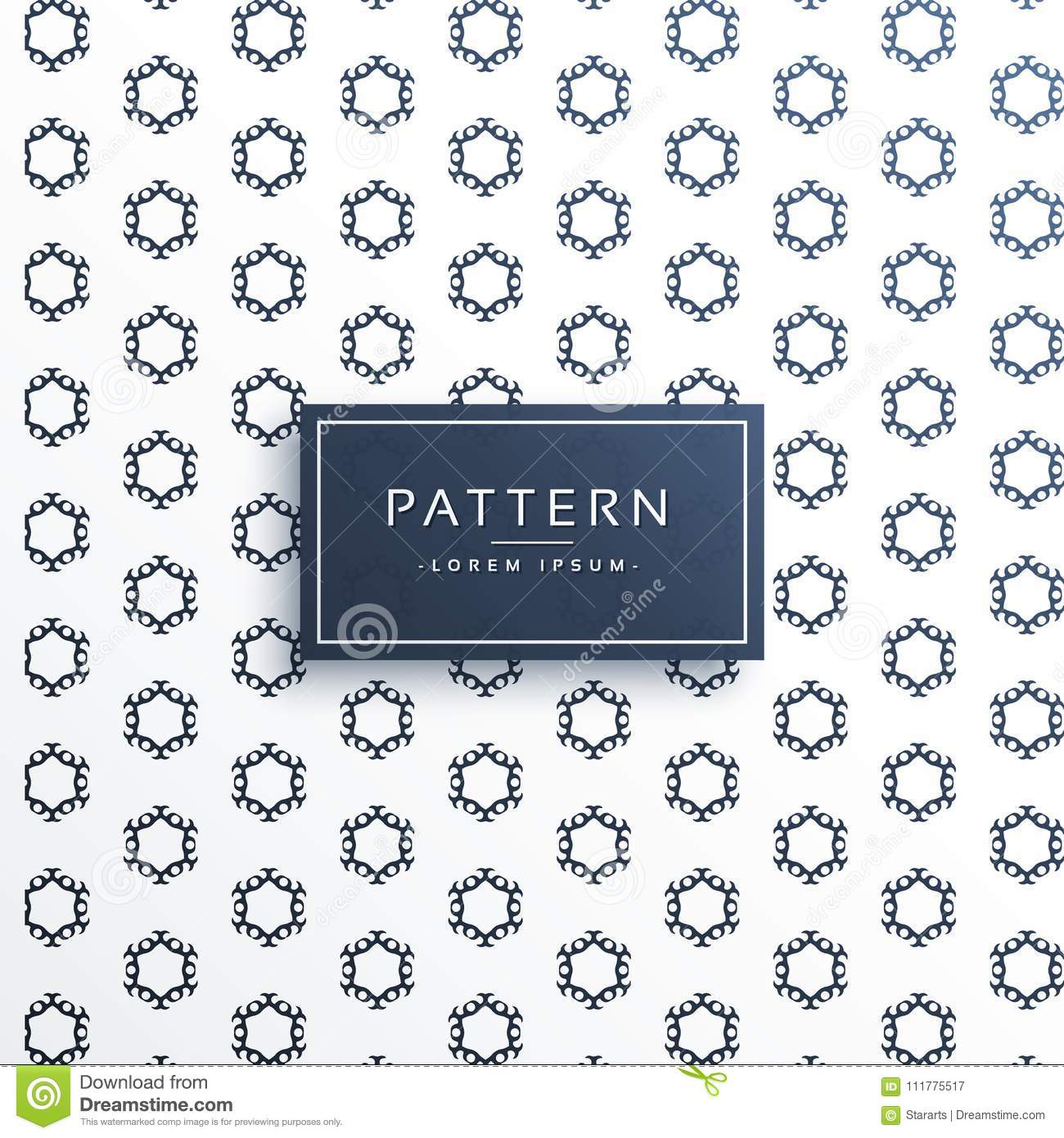 Hexagonal decorative pattern vector background