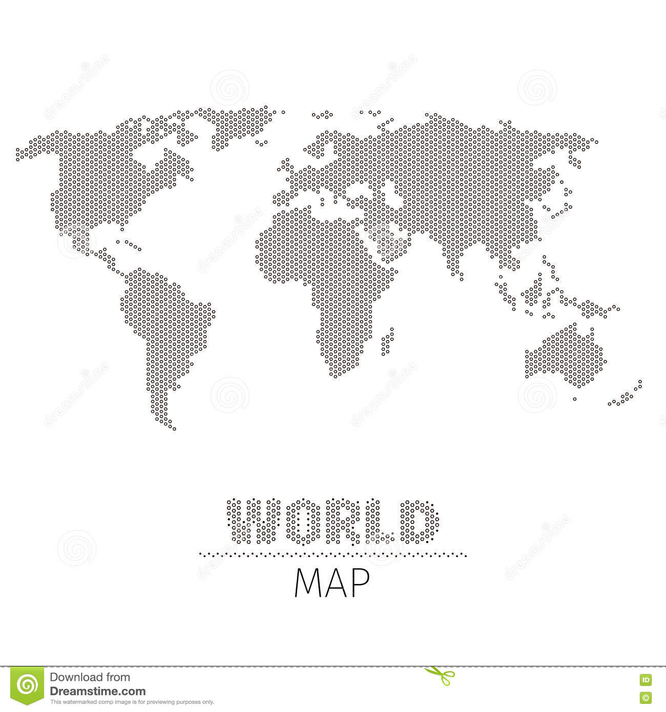 Hexagonal dots world map on white background vector illustration hexagonal dots world map on white background vector illustration royalty free vector gumiabroncs Images