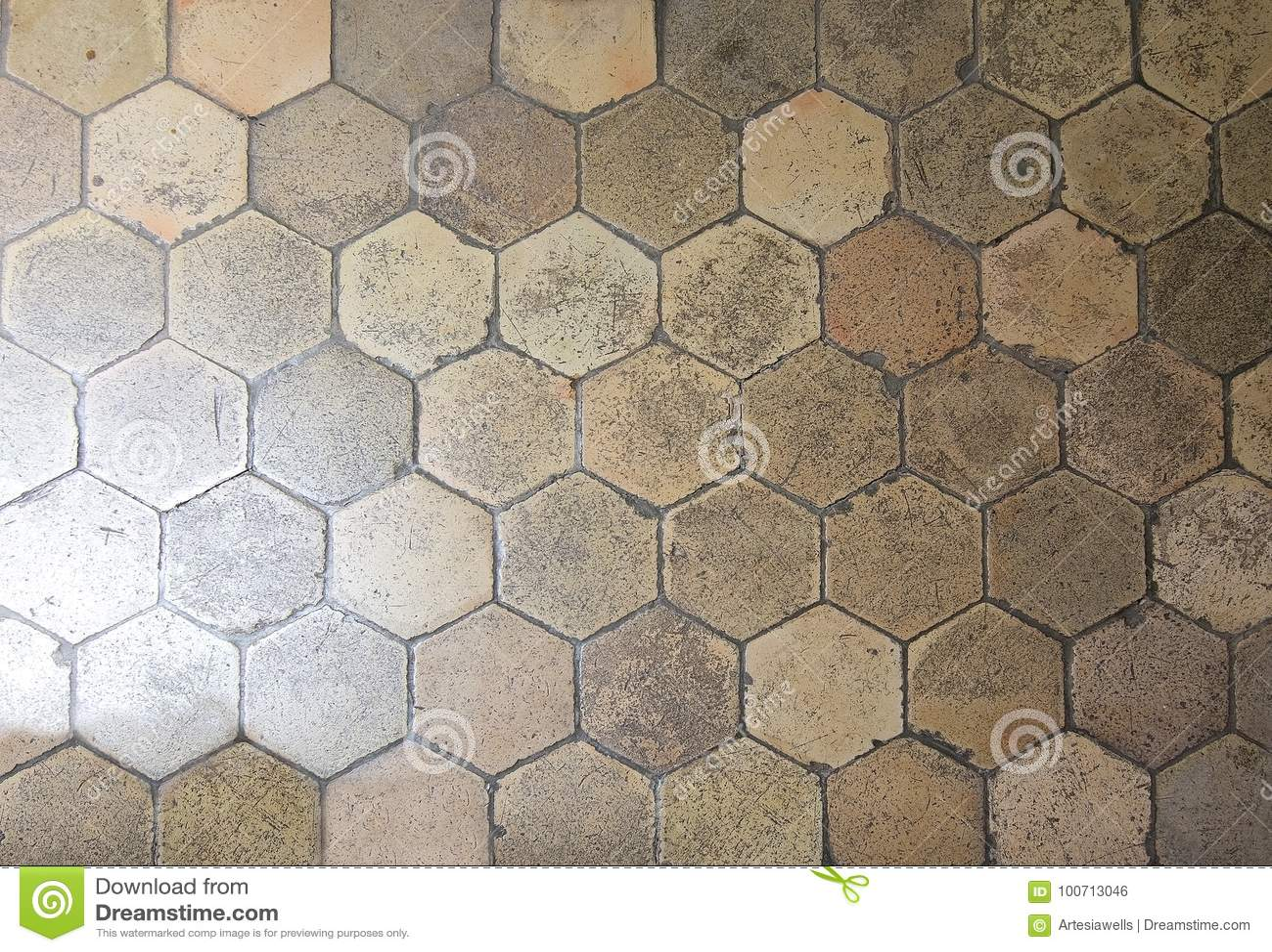 Hexagonal Floor Tiles Stock Photo Image Of Theatre 100713046