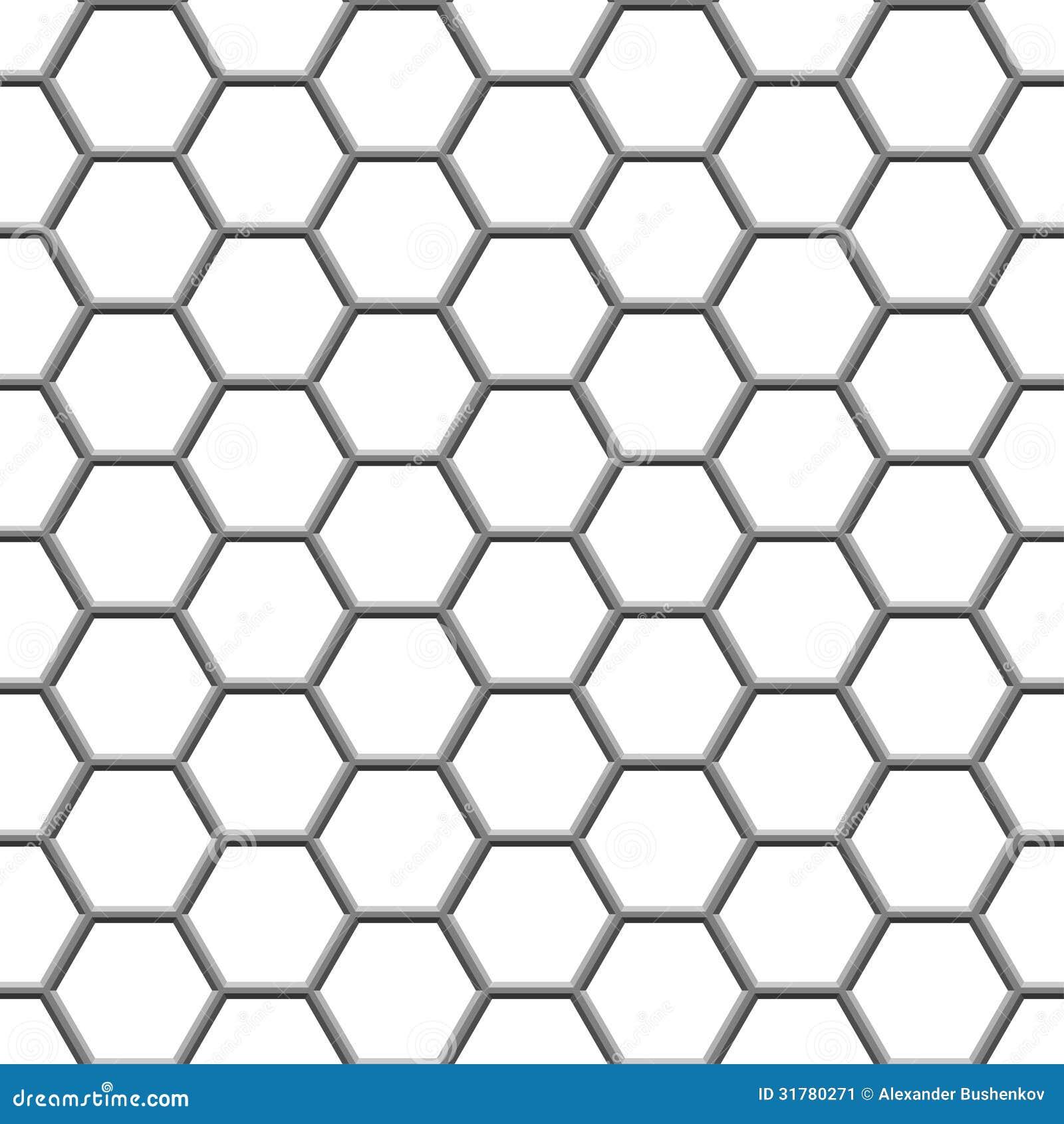 Hexagonal Grid Stock Image Image 31780271