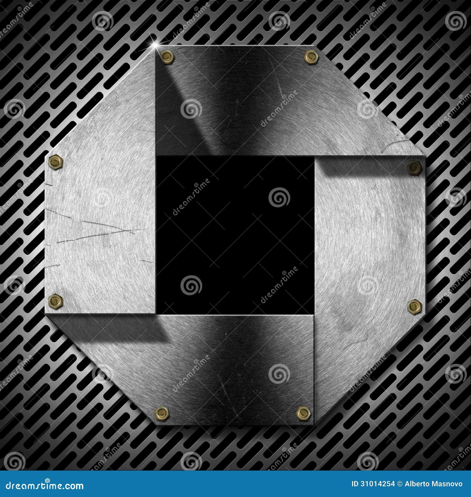Hexagonal Grunge Metal Porthole Stock Images - Image: 31014254