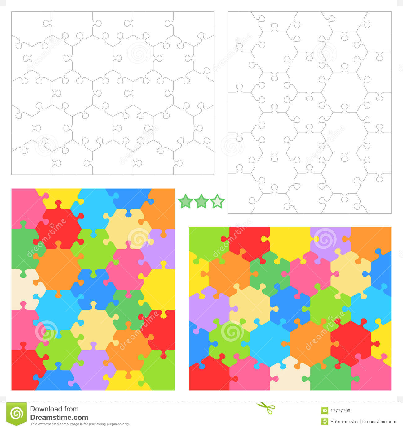 Hexagonal jigsaw puzzles stock vector image of hexagonal 17777796 hexagonal jigsaw puzzles pronofoot35fo Choice Image