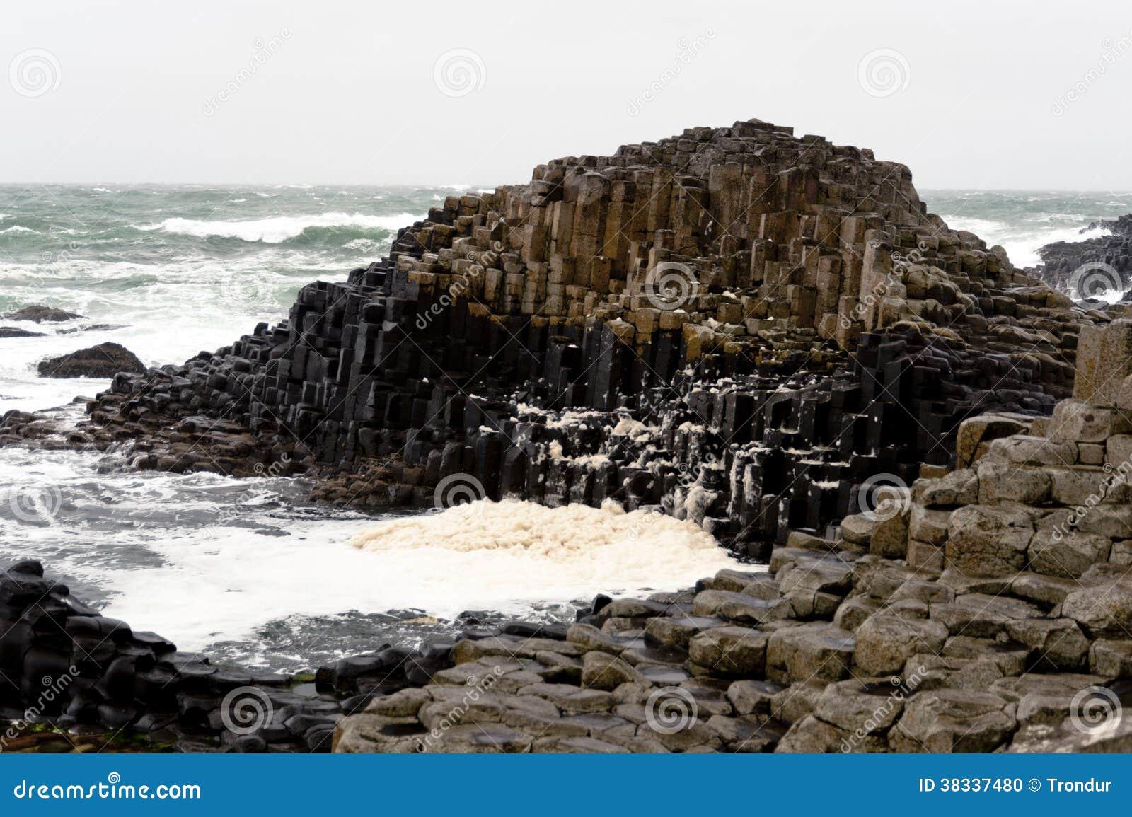 Hexagonal Rocks Giants Causeway, Northern Ireland Stock Photo - Image ...
