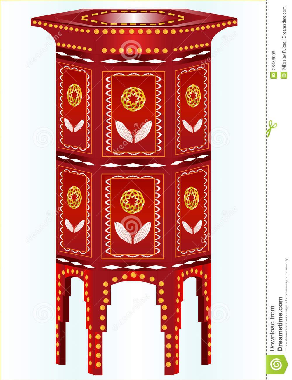 Hexagonal side table royalty free stock image image for Decoration table orientale