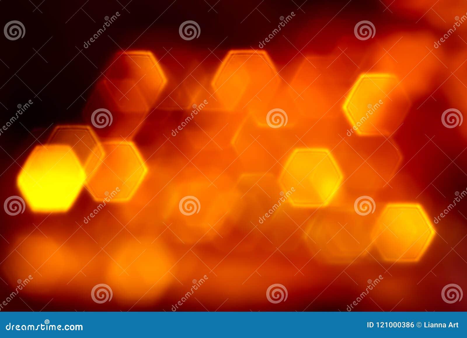 Hexagone橙色平的光