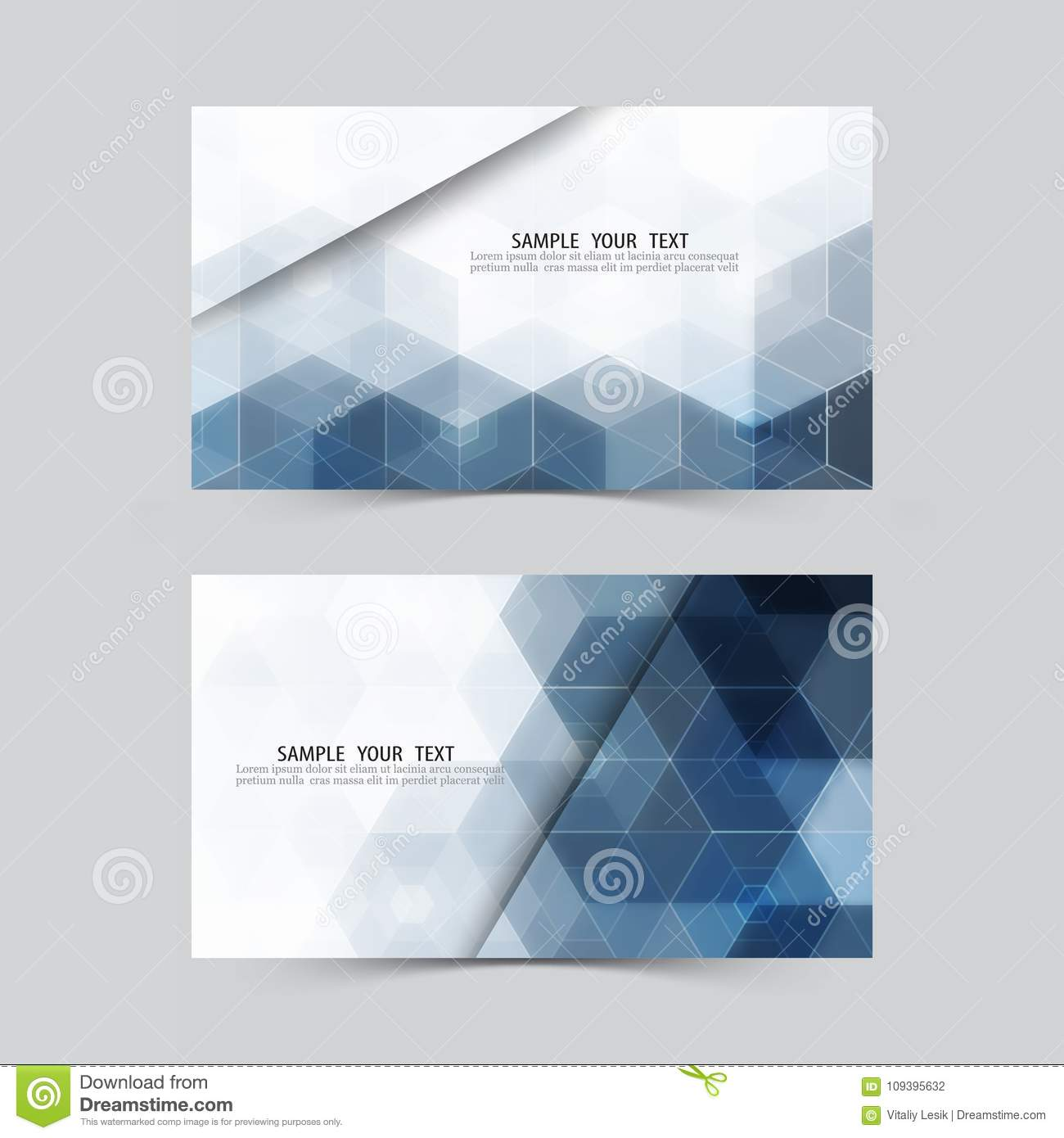 Hexagone Bleu Abrgez Le Fond Ensemble De Drapeaux Calibre D Invitation Cartes Crdit