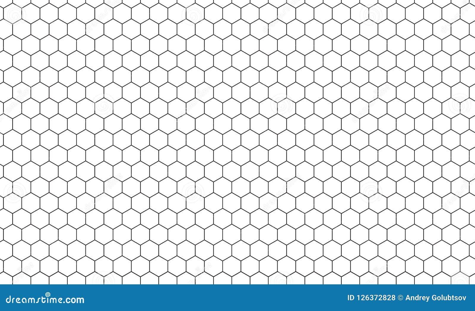 Hexagonnettobienenwabenmuster-Vektorhintergrund