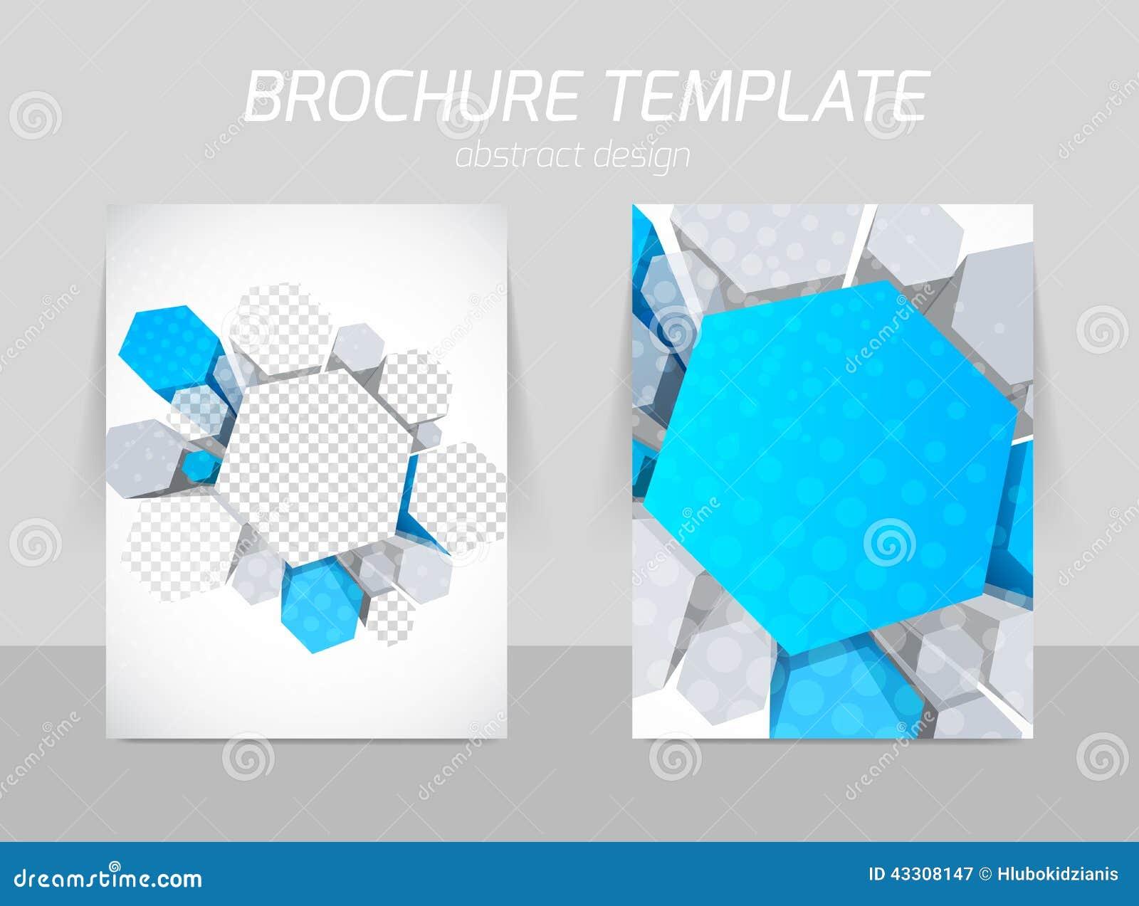 Hexagons Flyer Template Stock Vector - Image: 43308147
