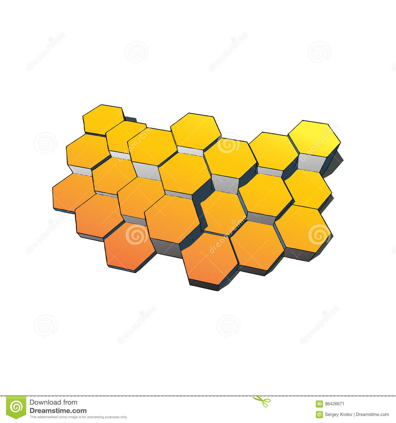 Hexagons technology and communication background. Vector illustration eps10