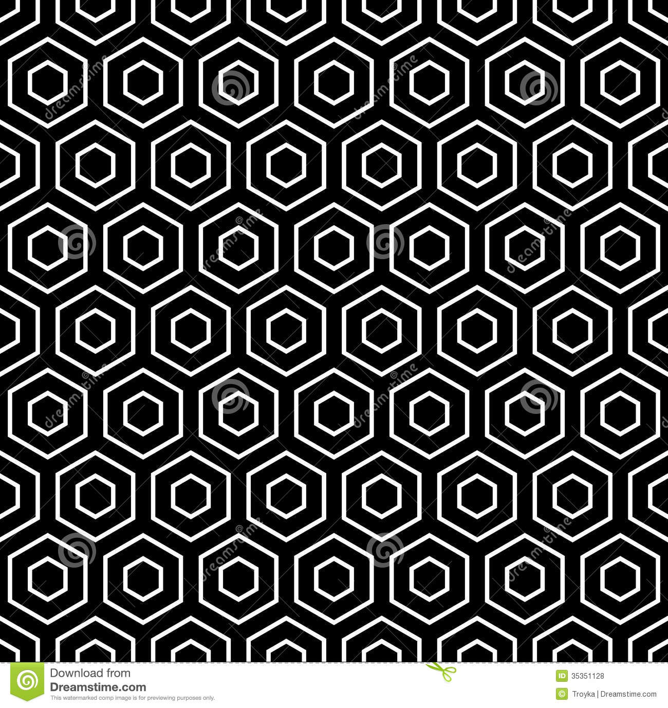 Hexagons Texture. Seamless Geometric Pattern Royalty Free Stock ...