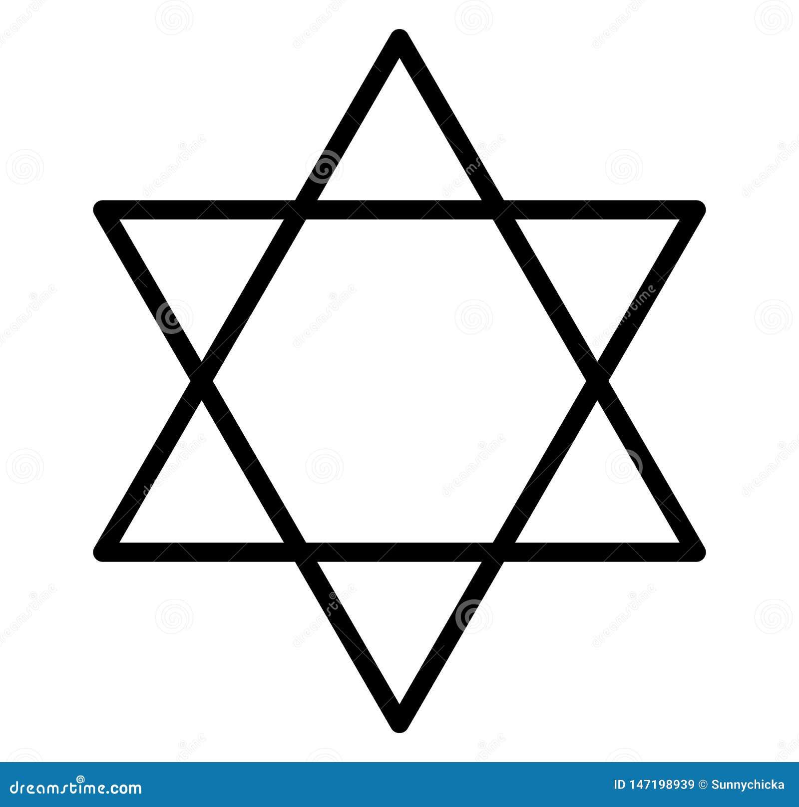 Hexagram juif de juifs de joint de David d étoile de Salomon