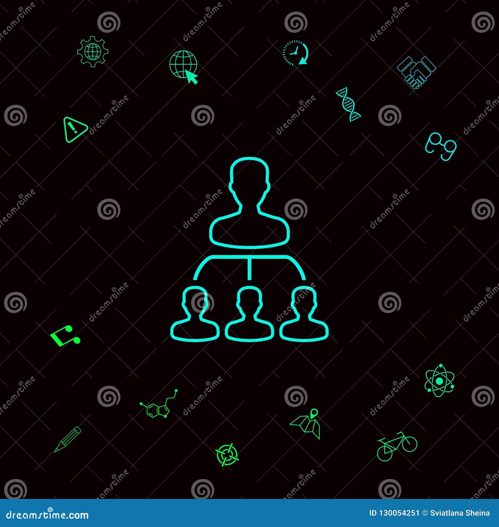 Hiérarchie - ligne icône Éléments graphiques pour votre designt