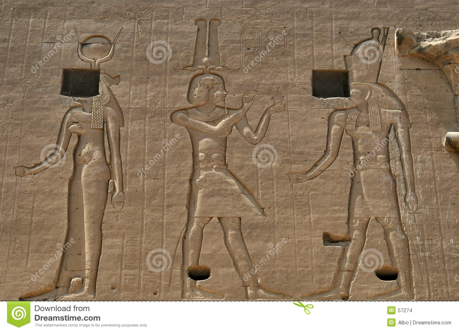 Download Hiéroglyphes égyptiens photo stock. Image du empereur, signe - 57274