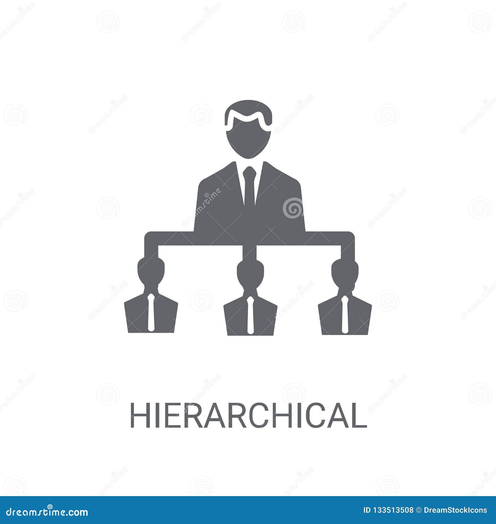 Hiërarchisch structuurpictogram In Hiërarchisch structuurembleem