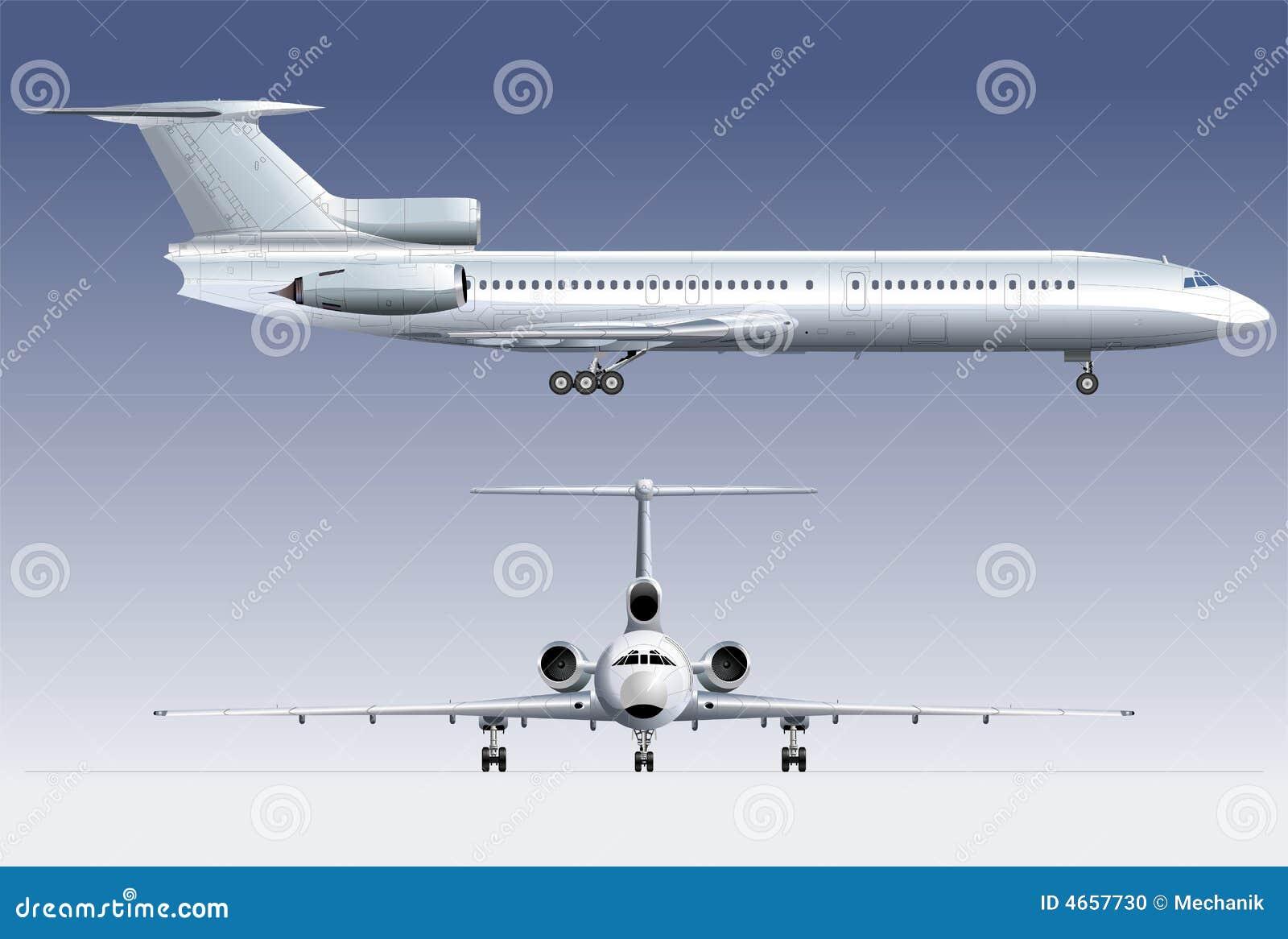 Hi-detail Passenger Jet TU-154 Stock Photo - Image: 4657730