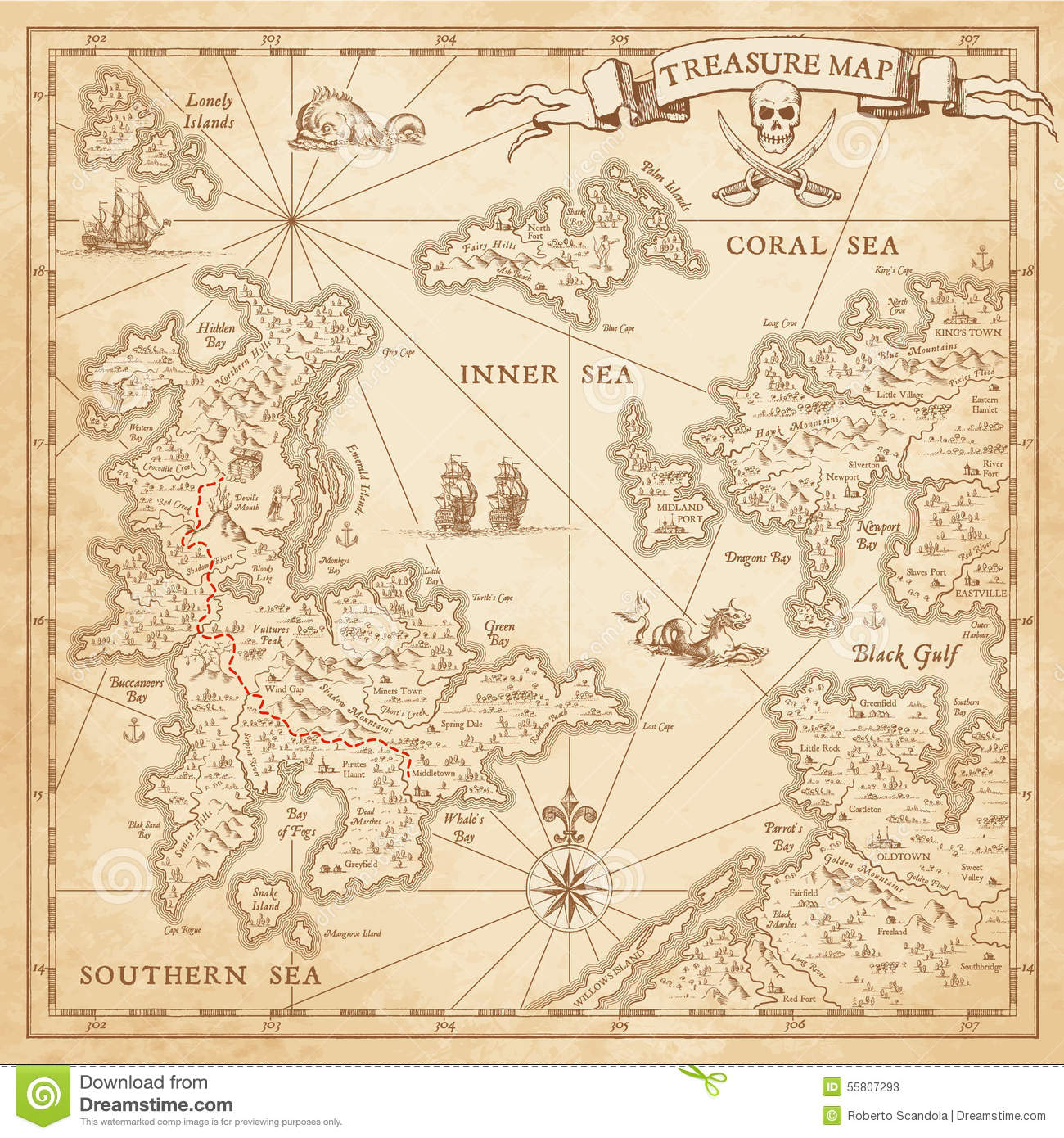simple treasure maps vintage - photo #19