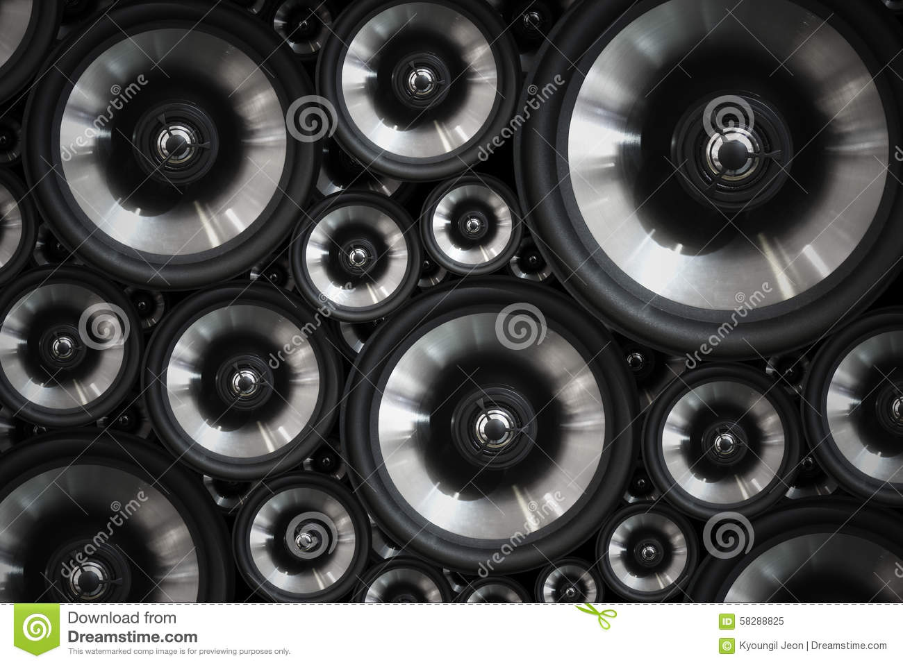 Hi Fi Audio Stereo System Sound Speakers Background Stock