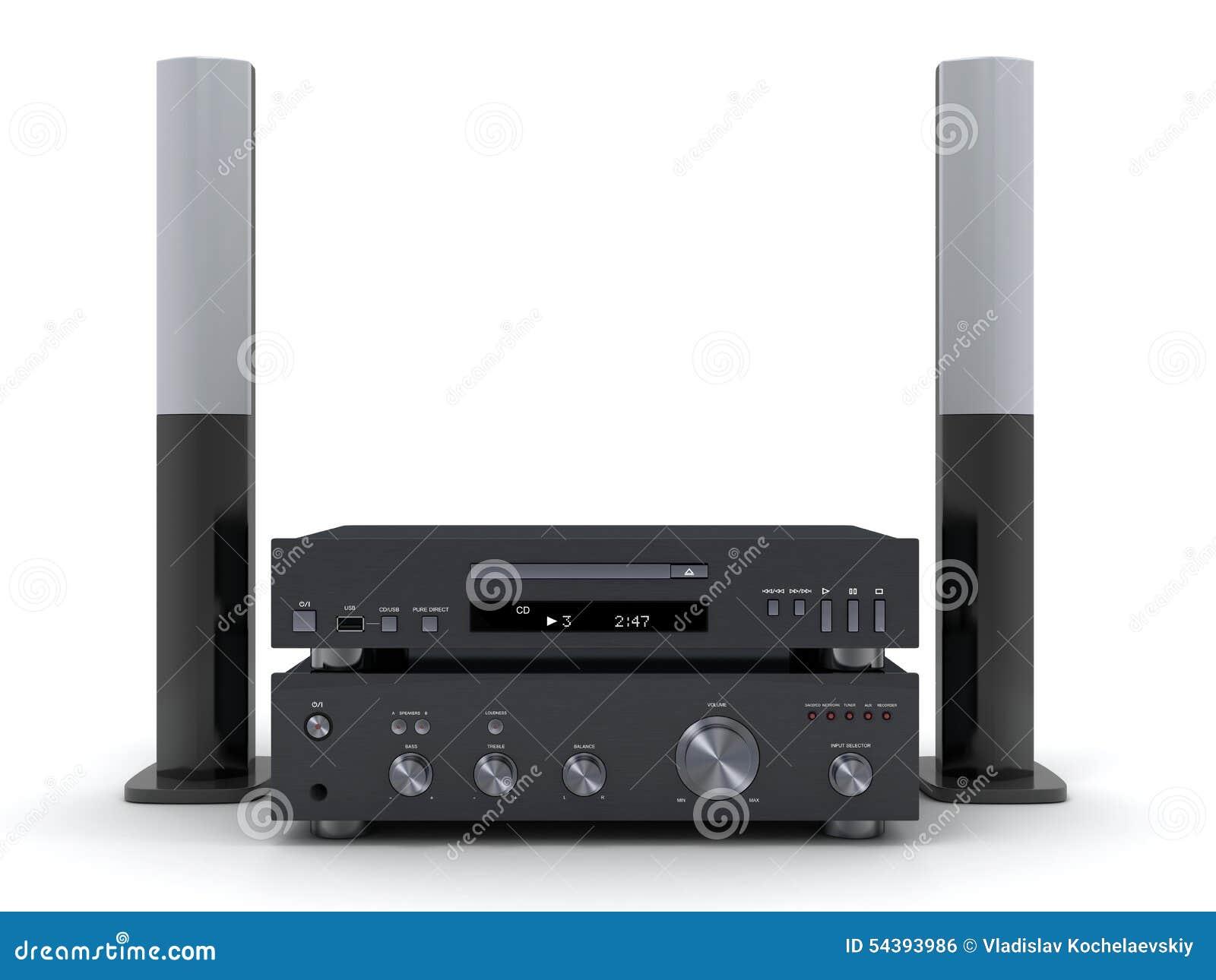 Modern Hifi hi fi system stock illustration illustration of sound 54393986