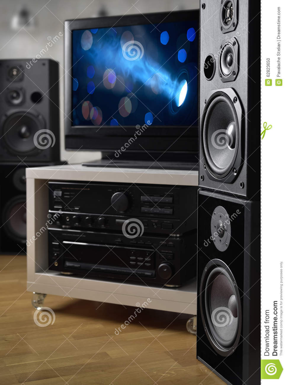 speakers for tv. royalty-free stock photo speakers for tv