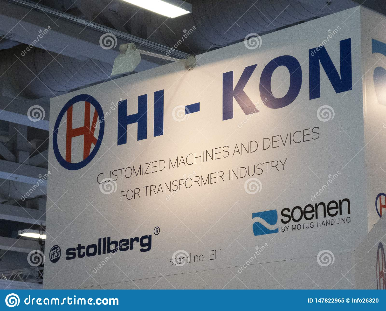 Hi-Kon company sign editorial image  Image of company