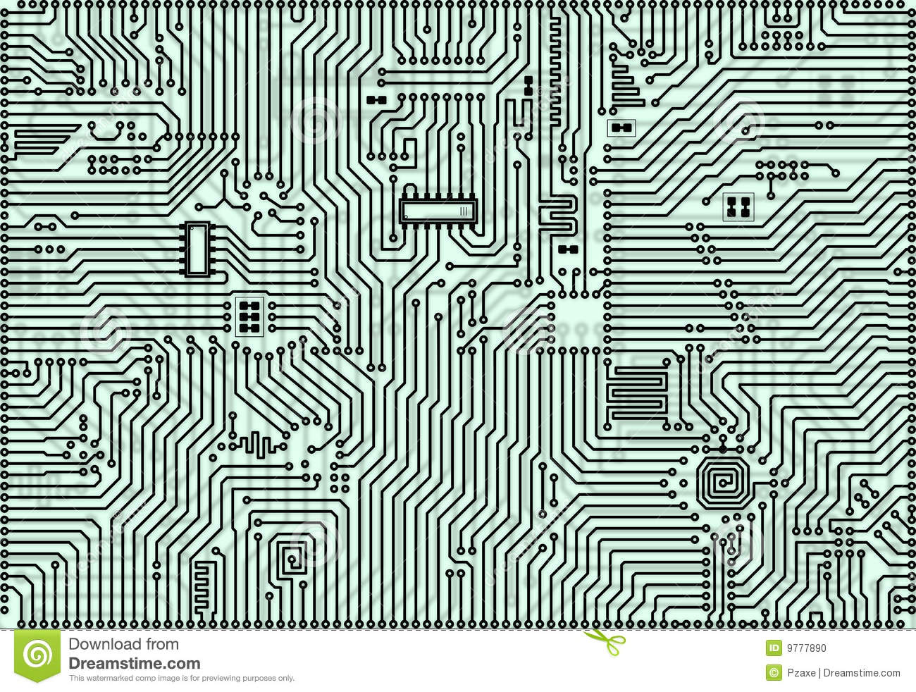 Stock photo hi tech abstract industrial electronic background
