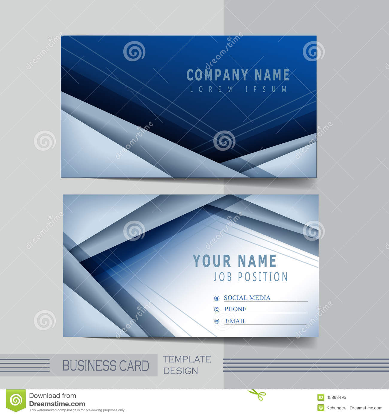 Hi Tech Background Design For Business Card Stock Vector