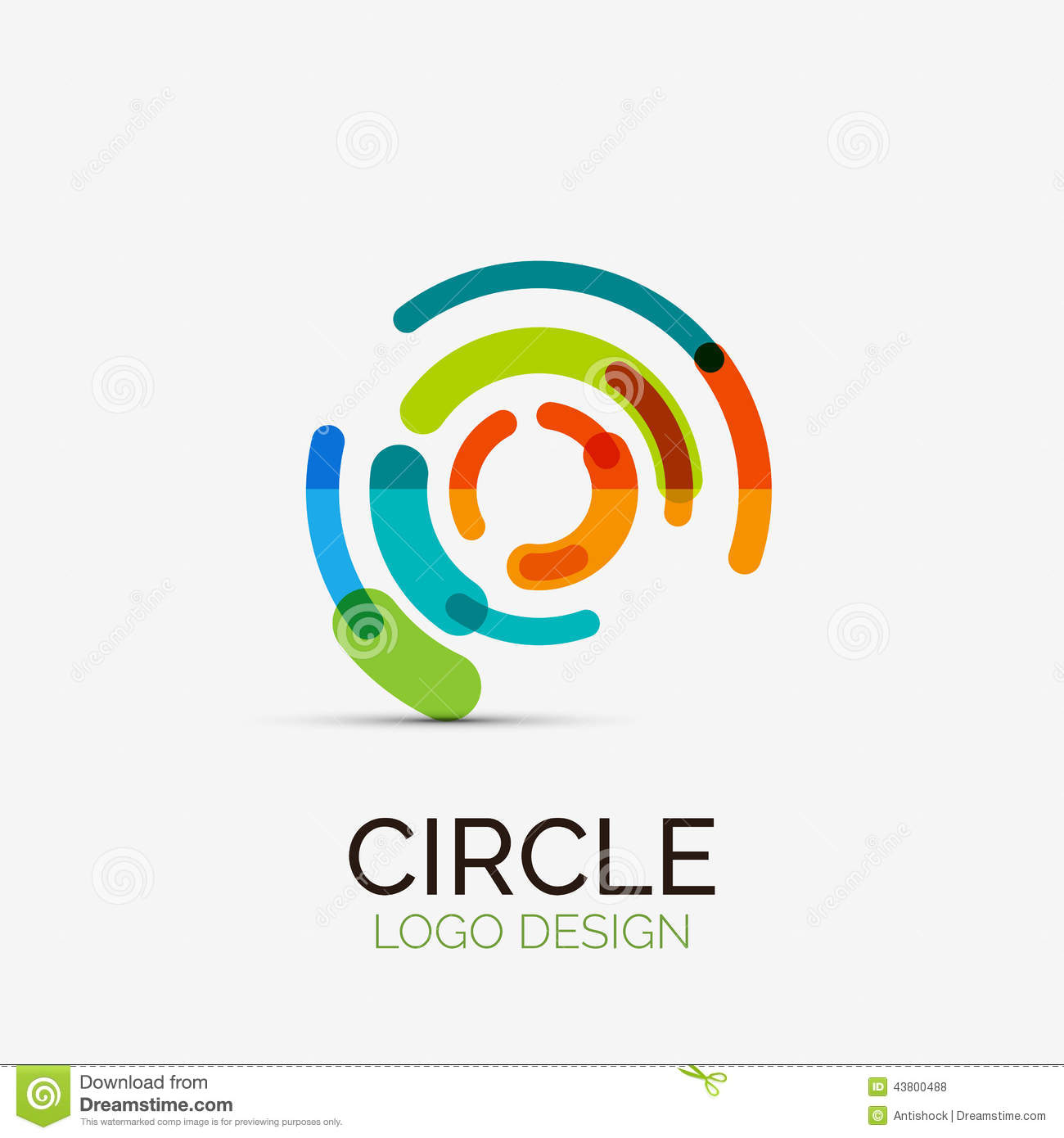 Hi tech circle company logo business concept stock vector for Designing company