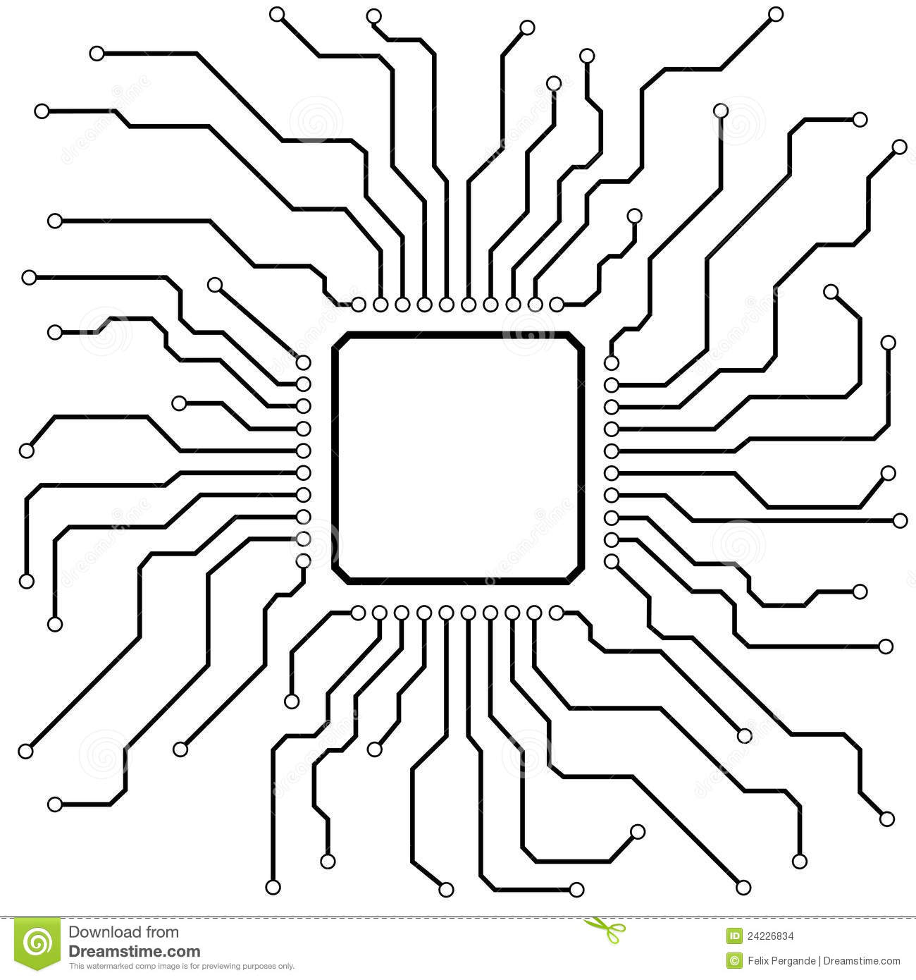 hi-tech circuit board stock vector  illustration of chip