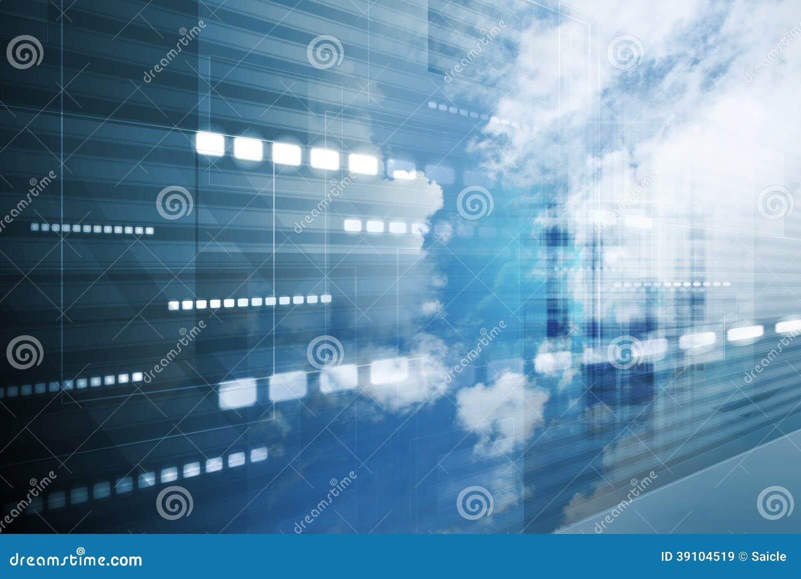 Hi-tech hemel achtergrondcollage