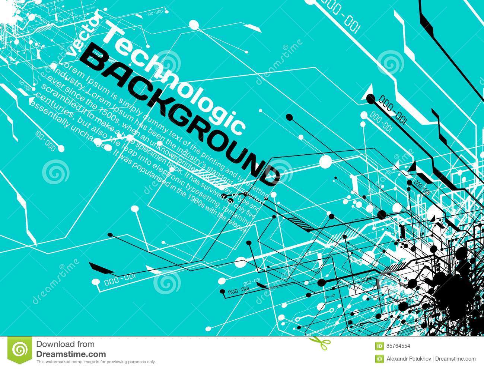 Hi-tech Technology Absract Background Cyberpunk Sci-fi Style Stock ...