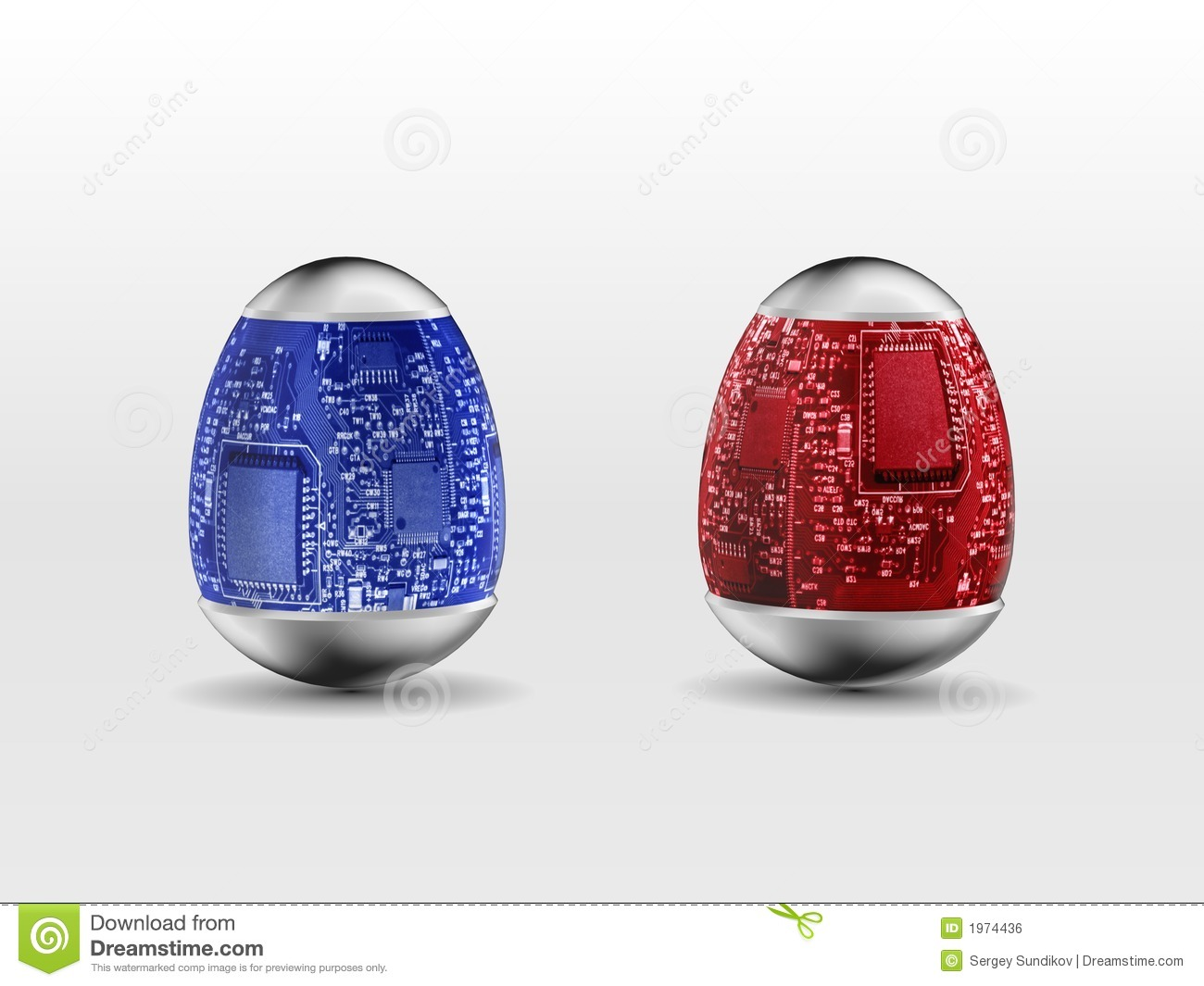 Hi Technology Easter Eggs Stock Illustration Of Hight Egg Circuit Will Makes Things