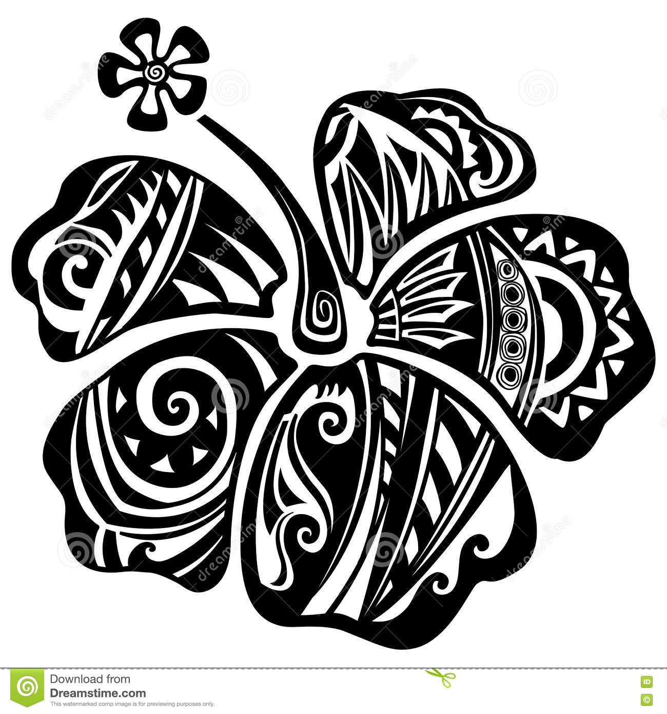 Hibiscus Black And White Stock Vector Illustration Of Maui 76207321
